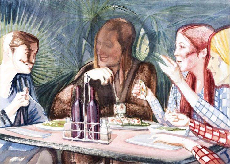 """""""Jesus Does Vegan with the Girls"""" by Miles Lewis"""