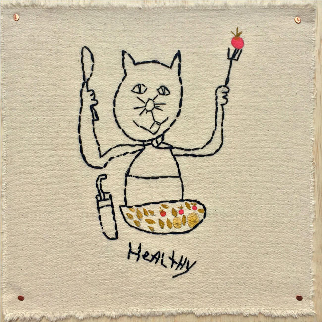 """Healthy Habit Kitty Cat"" by Elisa Jerugim (of L.A. Goal)"