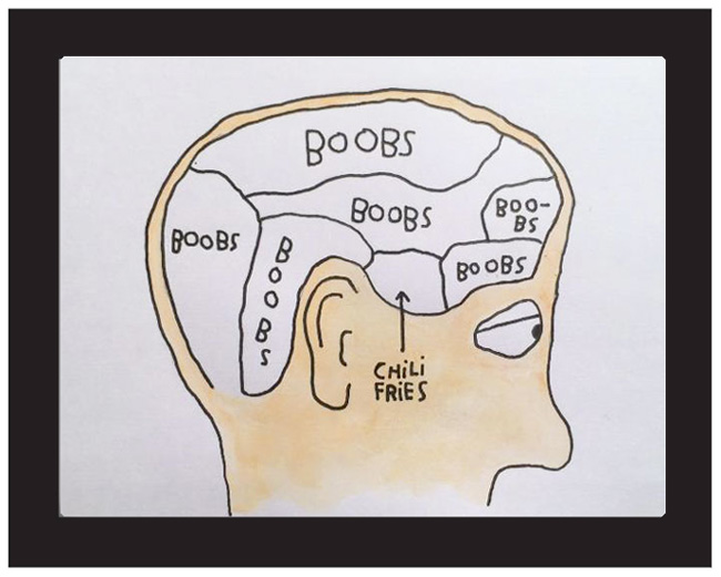 """""""Boobs, Boobs, Boobs, Chili Fries"""" by Kalen Dawson"""