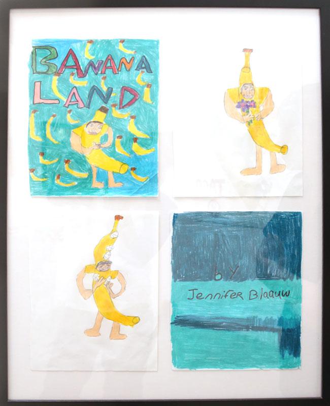 """""""Banana Land (original art from zine)"""" by Jennifer Blaauw (of L.A. Goal)"""
