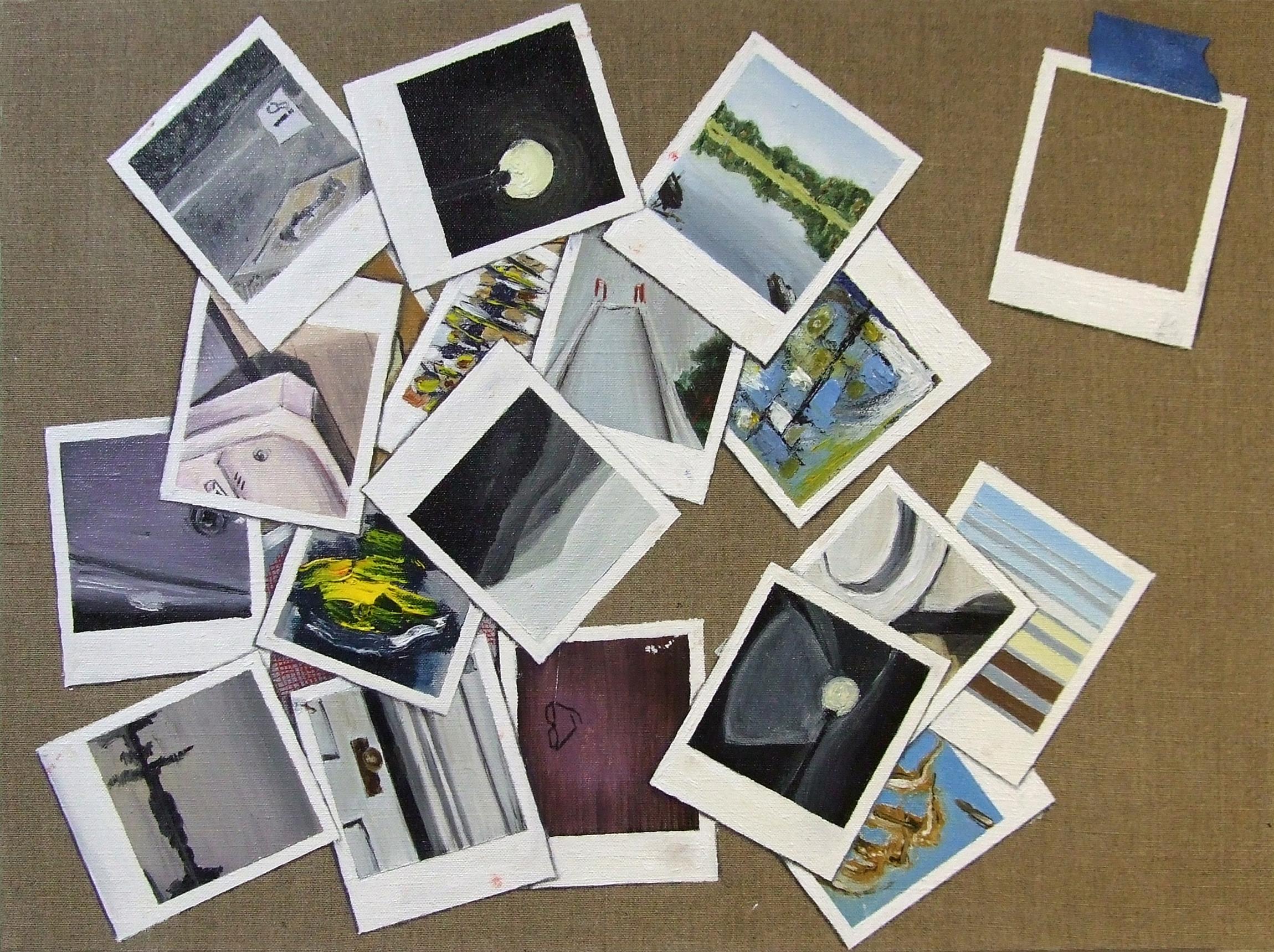 Twenty-two polaroids