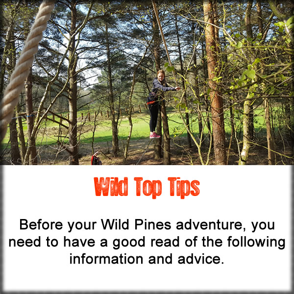 Wild Pines Park Tips for the Ropes Course