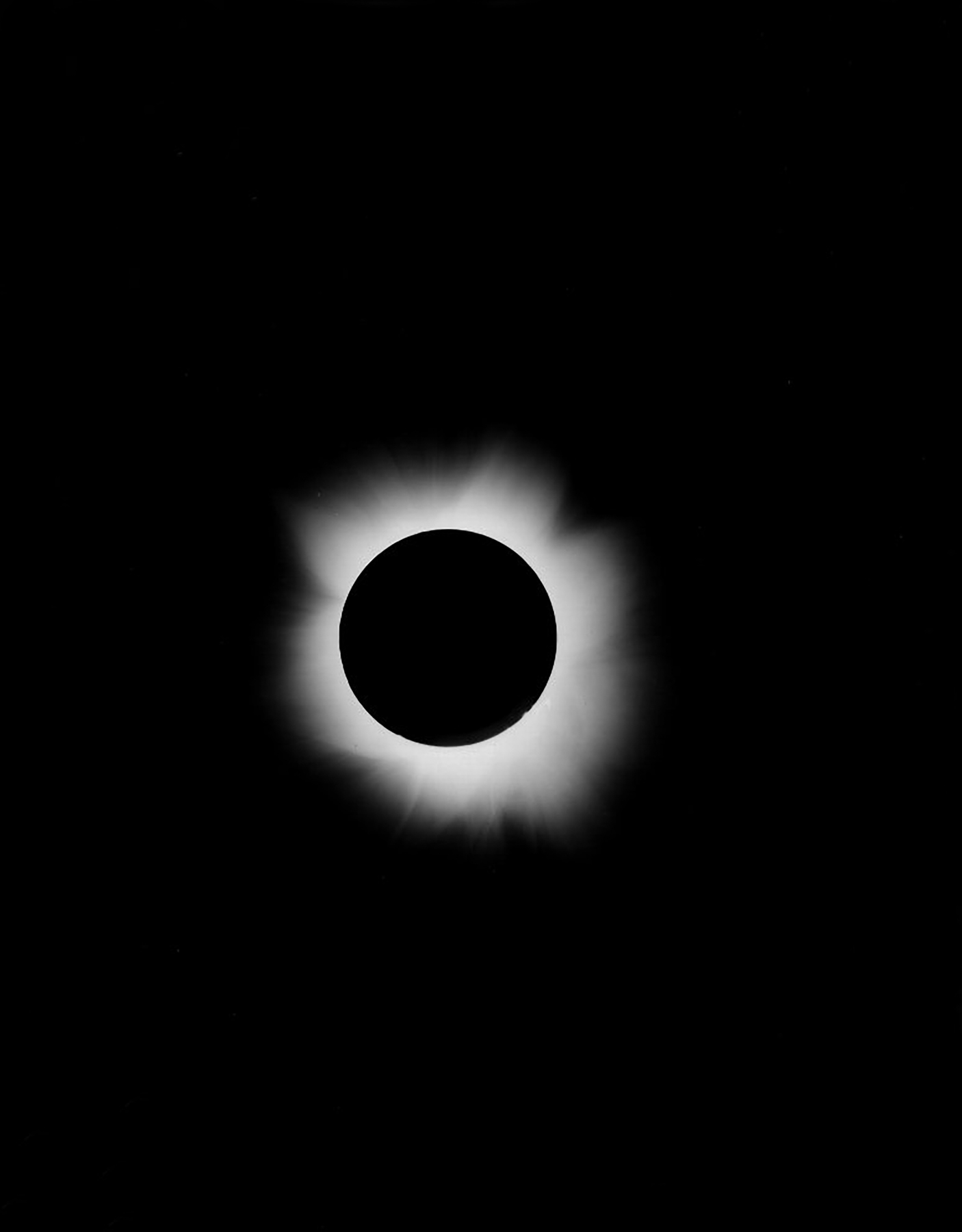 19th Century Eclipse moon; E00032