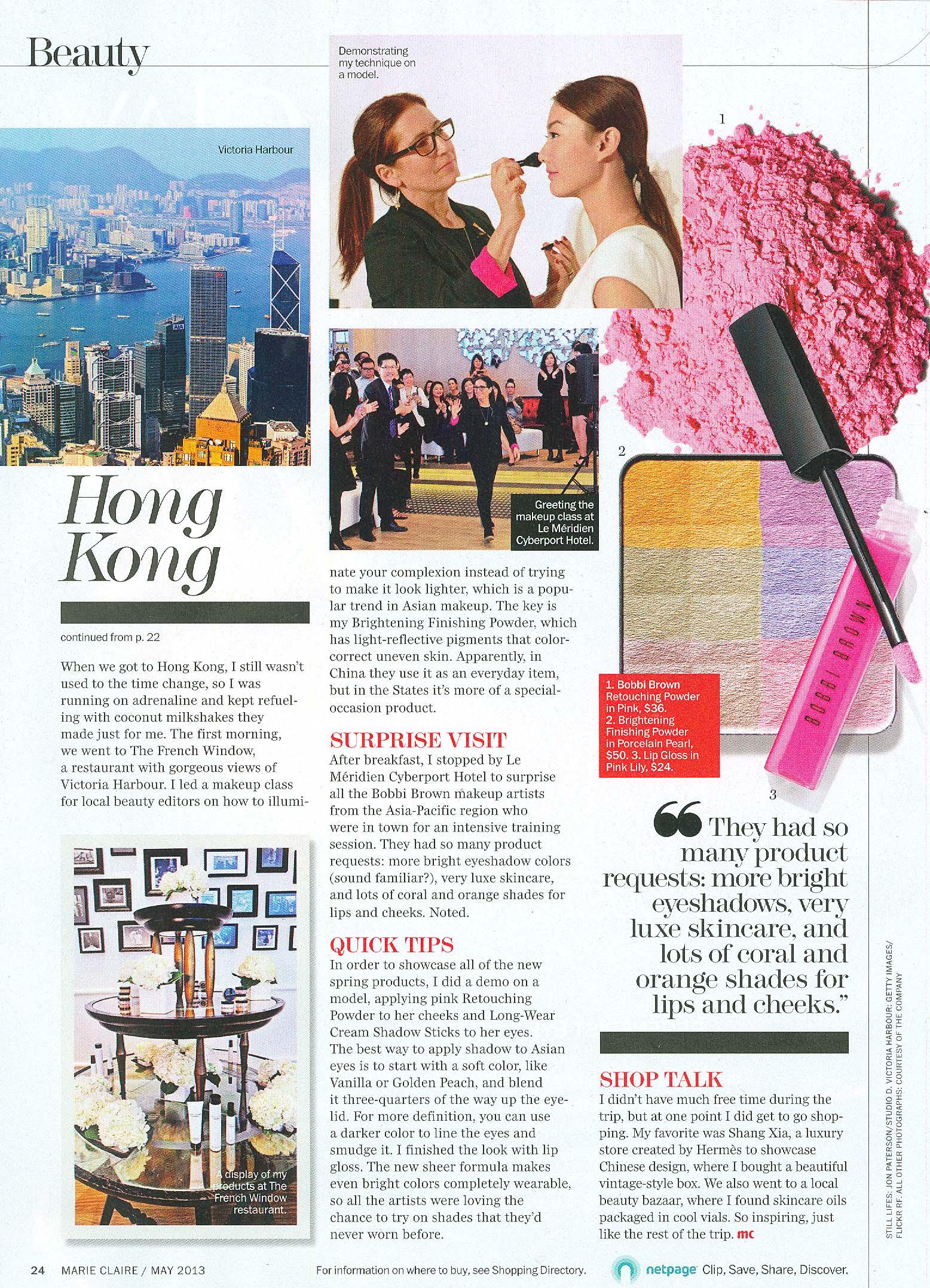 Marie Claire - Global Beauty China Hong Kong pg 2 May 2013.jpg