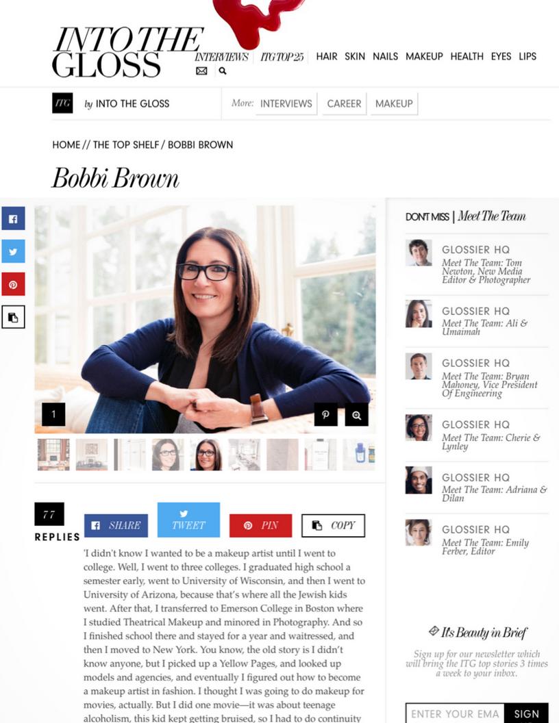 Into the Gloss: Bobbi Brown