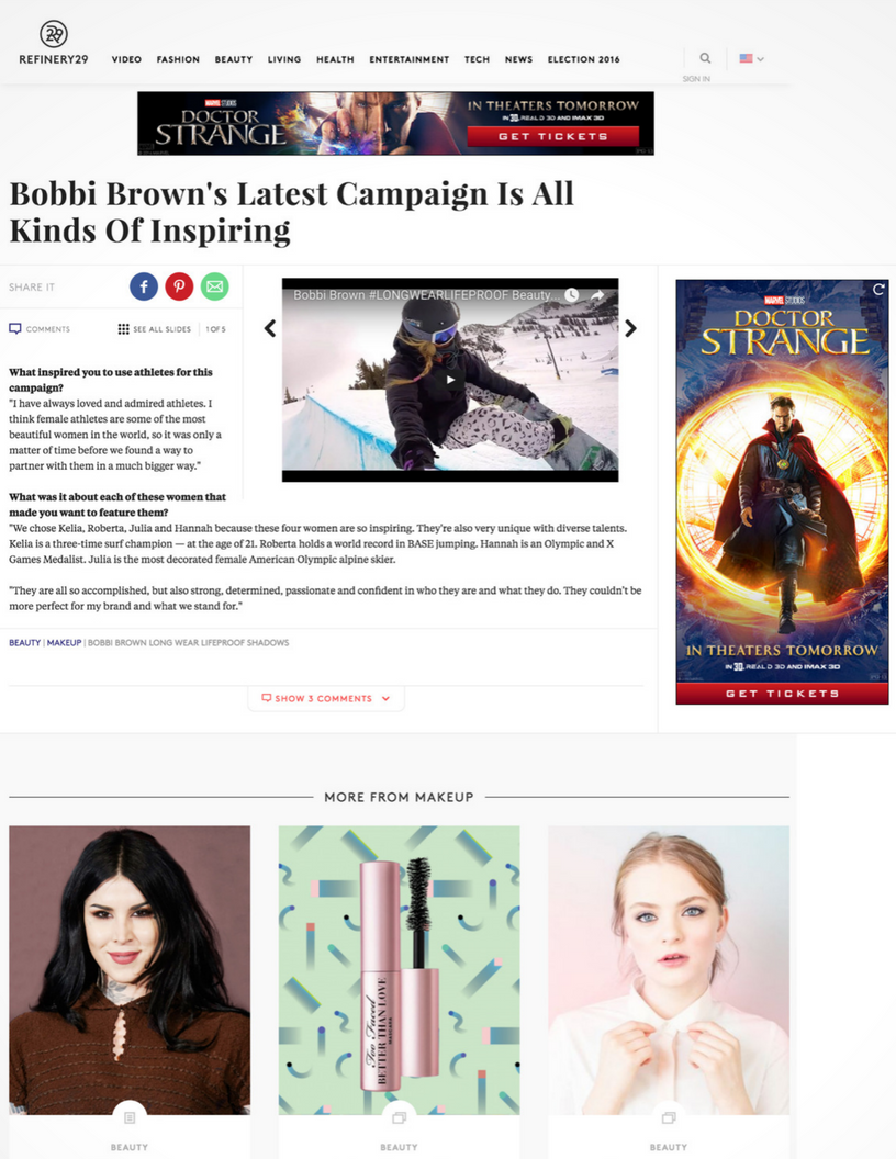 Refinery 29: Bobbi Brown's Latest Campaign Is All Kinds of Inspiring
