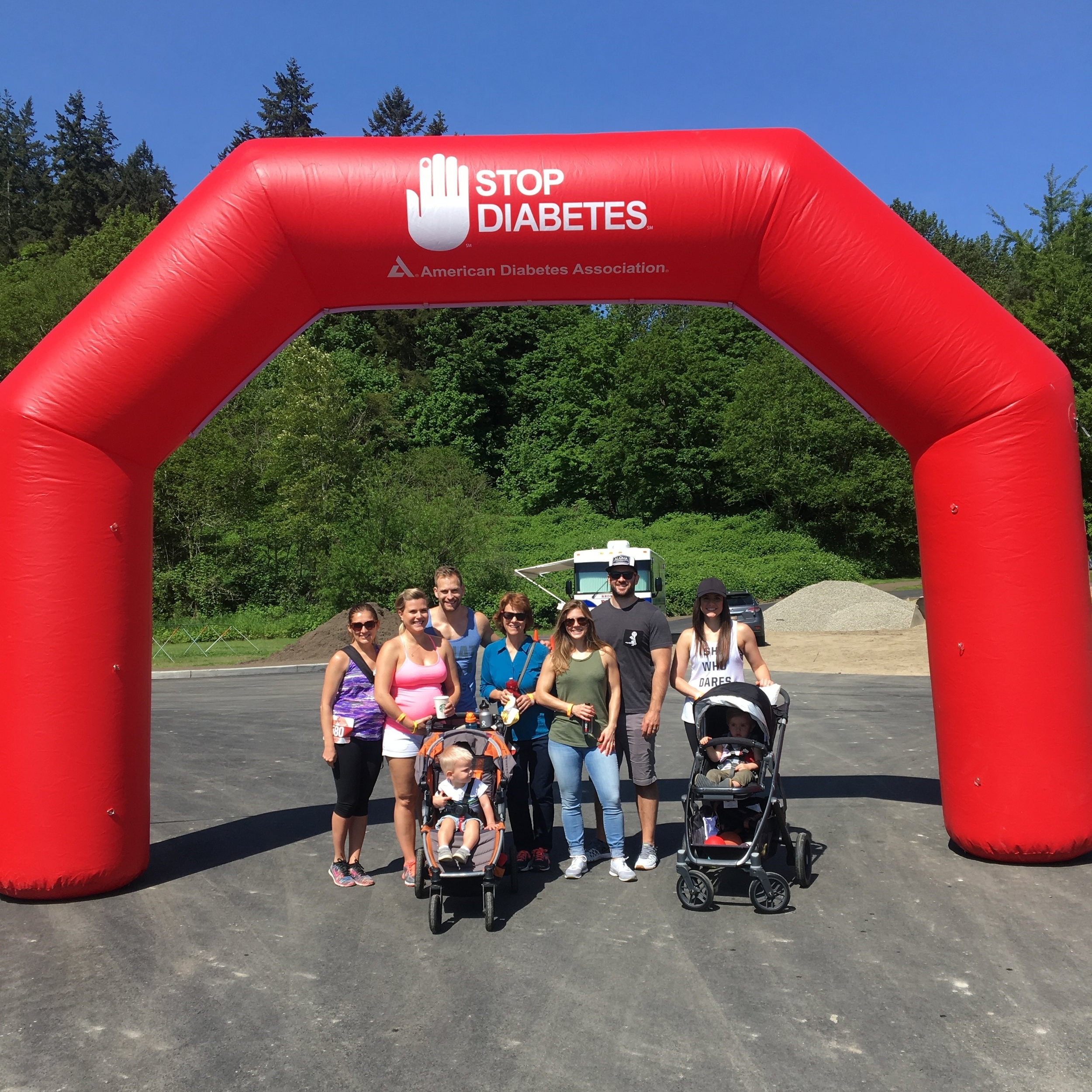 A few pictures from the Tour de Cure event. I felt so blessed to have so many friends and family members join us in the walk and also those who donated in the fight to cure diabetes. Thank you all so much!!!!