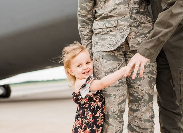 """That smile That leg hug That hand hold Those patches Those uniforms That plane  Those people ♥️✈️ C-5 mini sessions.  As I've sat back and edited each session...(still working on day 2!)...all I think is, """"man, these are going to be just the very best memories for all these wonderful families""""  I'm so happy I got to be apart of it!  I'm lucky to be apart of such a wonderful group of people! . . . . . . . #doverde #doverphotographer #doverafb #doverairforcebase #delewarephotographer #dephotographer #lifestylephotographer #childphotographer #portraitphotographer #familyphotographer  #farahreneephotography #justgoshoot #peoplescreatives #visualsoflife #familyphotography #goldenlight #darlingmovement #dearphotographer #lookslikefilm #lookslikefilmkids #c5 #c5galaxy #pixel_kids"""