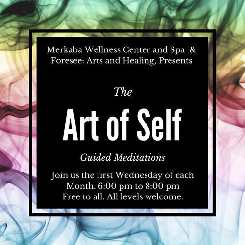 """In collaboration with Cassondra Jones of Foresee: Arts and Healing, we are happy to announce this free Guided Meditation class. Join us this Wednesday and the first Wednesday of each month, from 6pm to 8pm. All levels are welcome. This week our Guide will be Paul Rudy.  """"We cannot make space to be creative, if we don't make space for our own well being."""" ~ Cassondra Jones  **Foresee: Arts and Healing is a local Lawrence group that focuses on creative healing and mental health. For more information on this group visit.**   https://www.meetup.com/Lawrence-Art-and-Healing/   841 New Hampshire   785-214-4882    www.merkabawellnesscenter.com"""