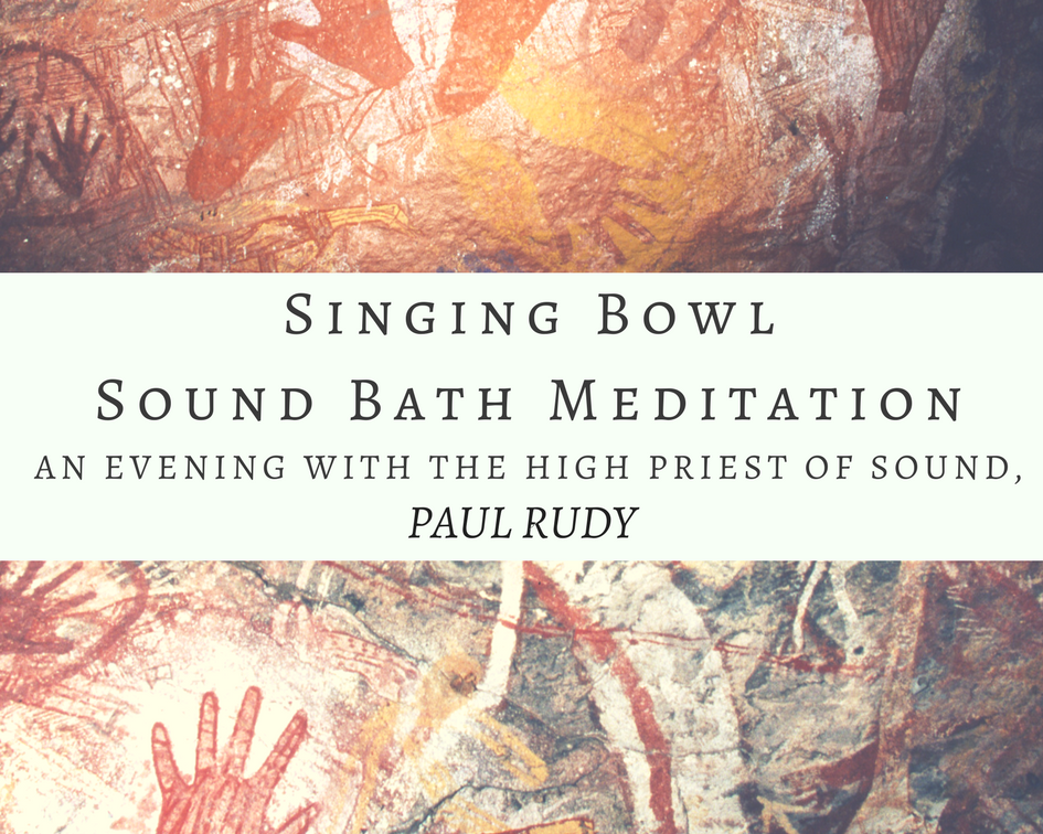 """Join us for an evening of Singing Bowl and Sound Bath Meditation with Paul Rudy.   We will listen and commune with Crystal and Metal singing bowls, and toning, to tune into the season and dance with the healing energies of sound vibration.  It can be said that illness is a manifestation of dis-harmony within the body—an imbalance in the cells or a given organ. Since matter is energy vibrating at different rates, by altering the rate of vibration we can change the structure of matter. Sound from Singing Bowls guide the brain to move into the Theta brain wave frequencies that induce deep meditative and peaceful states, clarity of mind, and intuition. The sound vibrations impact our nervous system, engaging our relaxation reflex and inhibiting the stress or pain response.   """"Sound is powerful. It moves energy physically, emotionally, psychologically and spiritually.   Listening is diagnosis and sound is medicine. Becoming conscious of both allows us to tune our 5th chakra to harmonize with anything we encounter on the physical, emotional spiritual and energy planes. Harmonizing allows us to our voice, the unique instrument ideally suited to touch ourselves deeply from cells to soul,expands our respond-ability to a maximally creative place.  """" Paul Rudy     CLICK HERE TO REGISTER ONLINE   or call Merkaba at 785-214-4882"""