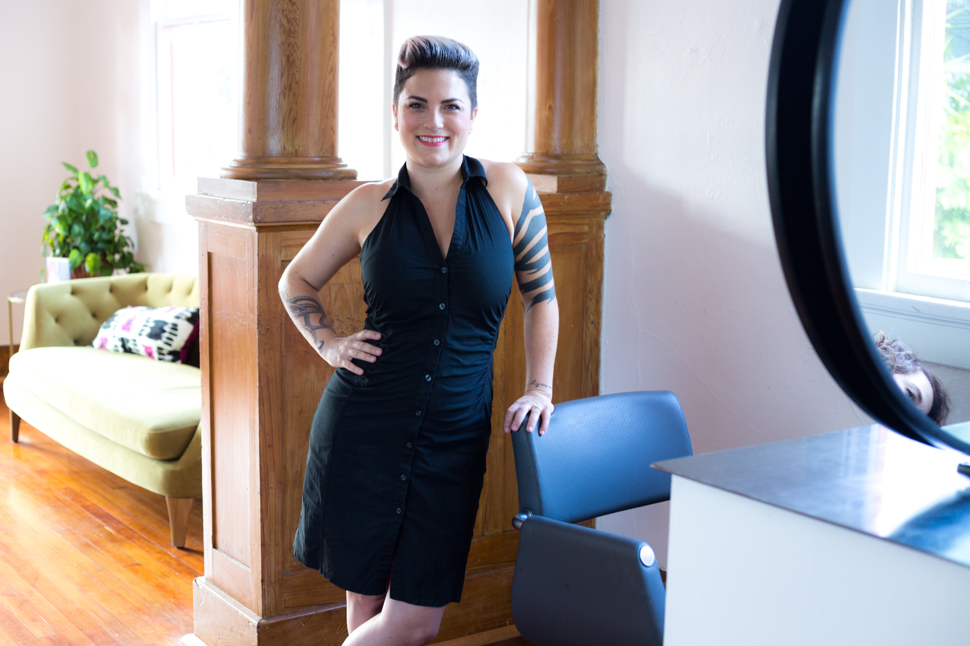 "McKenzie Zeigler - Stylist | Colorist | Makeup Artist  From the young age of 17, McKenzie knew she wanted to be a hairstylist and makeup artist. She eagerly finished high school and moved to New York City in 2005 to attend the Aveda Institute in SoHo. She obtained a degree in esthiology and cosmetology, then accepted an apprenticeship as a colorist at Cutler Salon in SoHo. After intensive training, she decided it was time to fulfill her other dream of becoming a makeup artist and completed an extensive course at the Make-up Designery.  McKenzie is specialized in color as well as razor cutting and has a large following of curly haired guests. She believes every cut and color should be customized for each individual person. She has more than 10 years' experience with bridal, beauty, fashion and costume makeup. Hair and makeup are a true passion for her, and she embraces any and every opportunity to learn more about her art.  Fun Facts: First visited New Orleans in October 2010 and moved here the following June! She is originally from CT so her favorite food is obvi CT pizza and True Crime shows. You also might see McKenzie out on the parade route because she dances in the Organ Grinders!  Pets: Two Cats  Review: ""Aside from the adorableness of the salon, every moment of a visit is incredible. The entire staff is welcoming and lovely, the hospitality is wonderful (complimentary wine, coffee, tea, water, beer, or a lil liquor), and gifted dressers. I most appreciate the level of thought they've put into their service offerings and their bathroom! It's a wonderful salon. Special shout out to my favorite hair dresser, McKenzie. She's knowledgeable and gifted and one to trust, especially with curly hair!"" -   Erika Enlund"