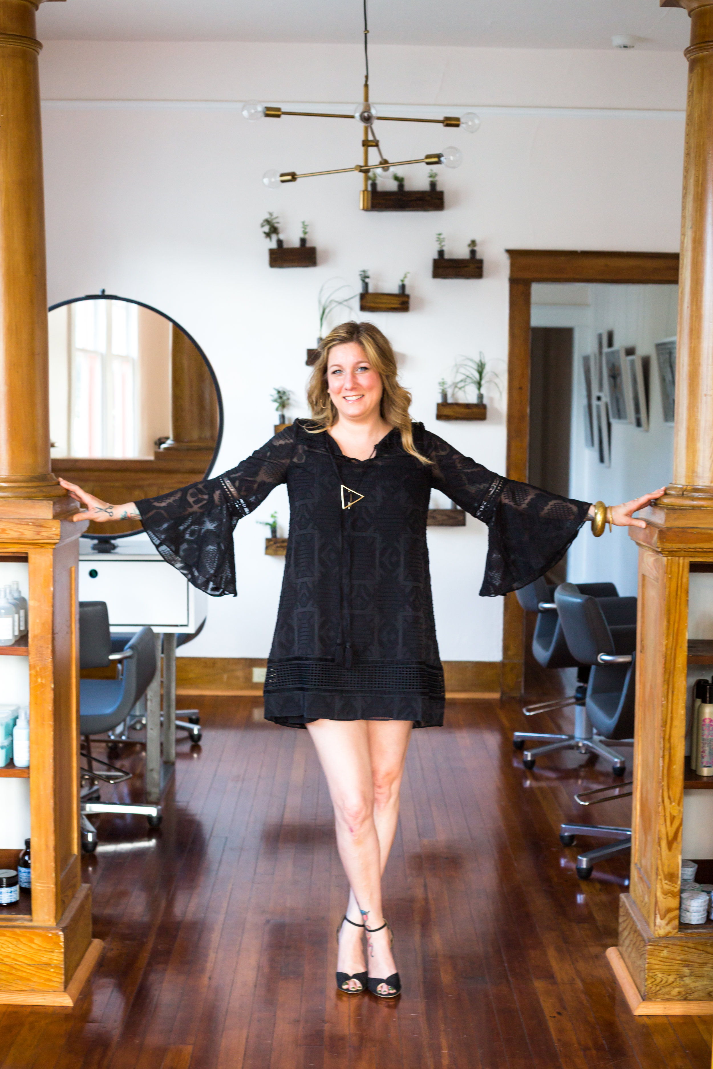 "Andrea A. Hoover - Owner | Stylist | Colorist  Andrea opened Sweet Olive Salon with her husband Richard in January of 2017. She has over 20 years experience as a professional cosmetologist in the New Orleans area. Andrea has cut, colored and styled hair at many high-end hair salons over the years. With this valuable experience, she created a professional hair salon that is also warm and welcoming to all, Sweet Olive Salon. We are a neighborhood boutique hair and skincare salon serving the greater New Orleans area. We are also a proud member of Green Circle Salons, which means we recycle 90% of our salon waste and keep it out of landfills and waterways.  Andrea's professional touch and big heart will bring your hair vision to life while creating a color and style that is just as unique as you are. Call for your free consultation today!  Pets: Cat named June.  Review:  ""Andrea really knows cut and color! I am so happy with my new do. The salon is so relaxed and amazing they will even offer you a nice refreshing glass of wine. Thank you to the crew at Sweet Olive for being so lovely. Can't wait for my next appointment!"" -   Leah Schroeder"