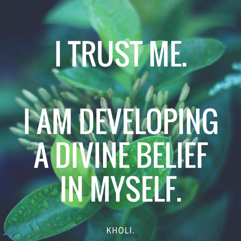 carrie kholi affirmations for trust