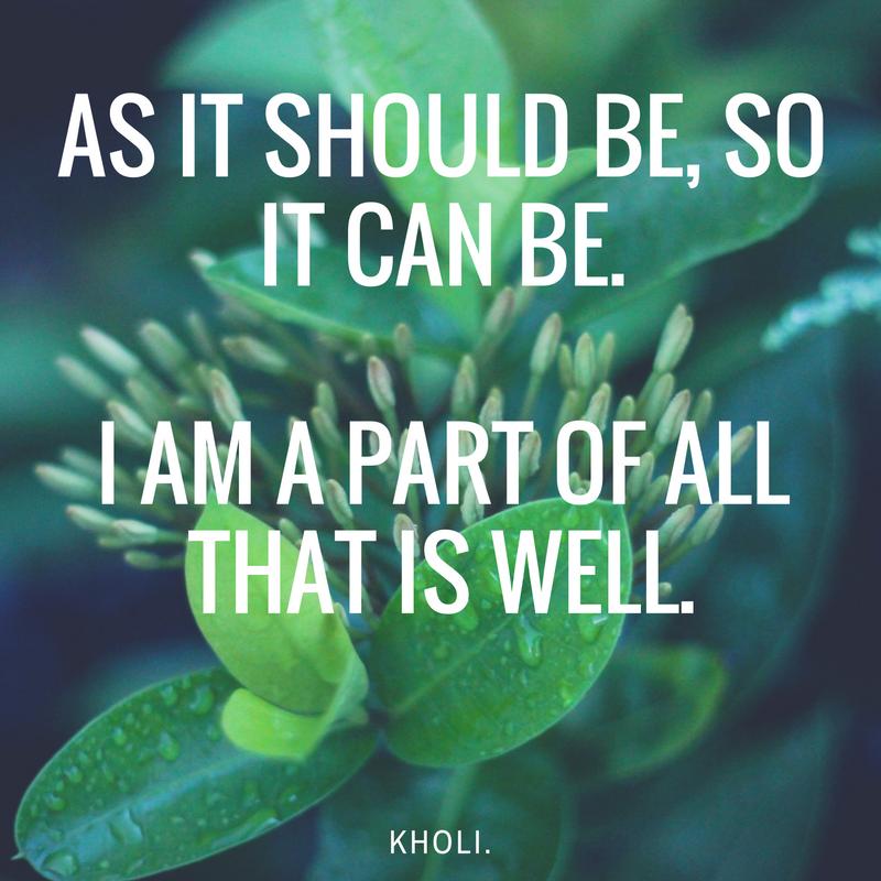 carrie kholi affirmations for faith