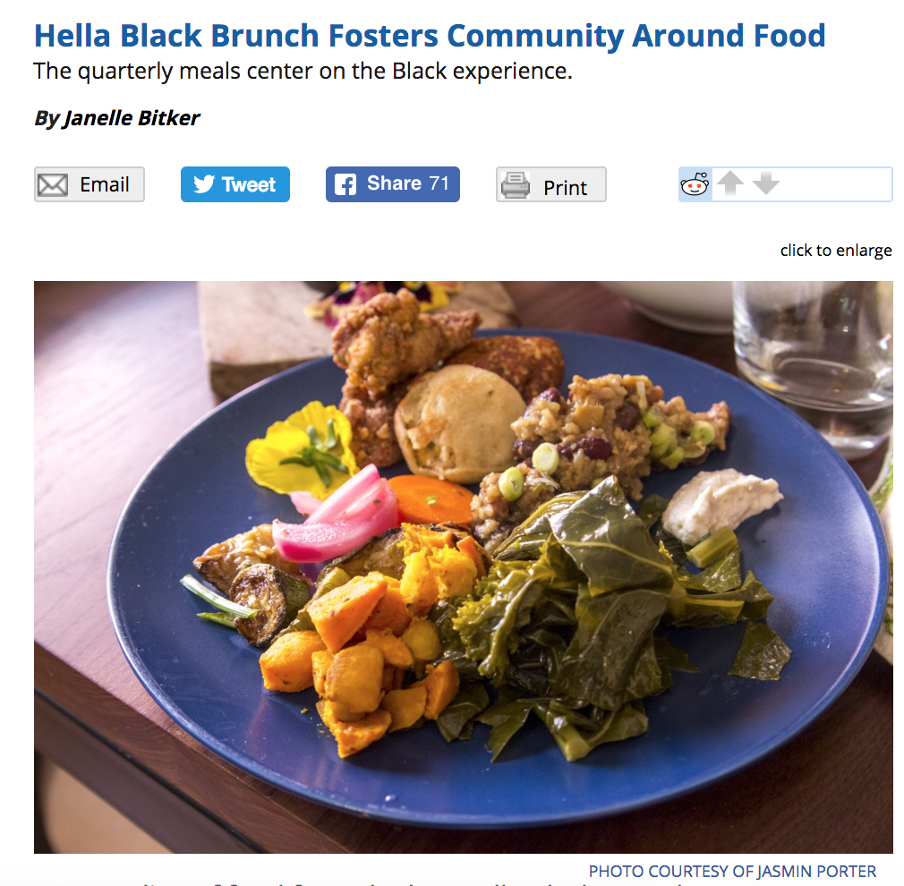 East Bay Express: Hella Black Brunch Feature