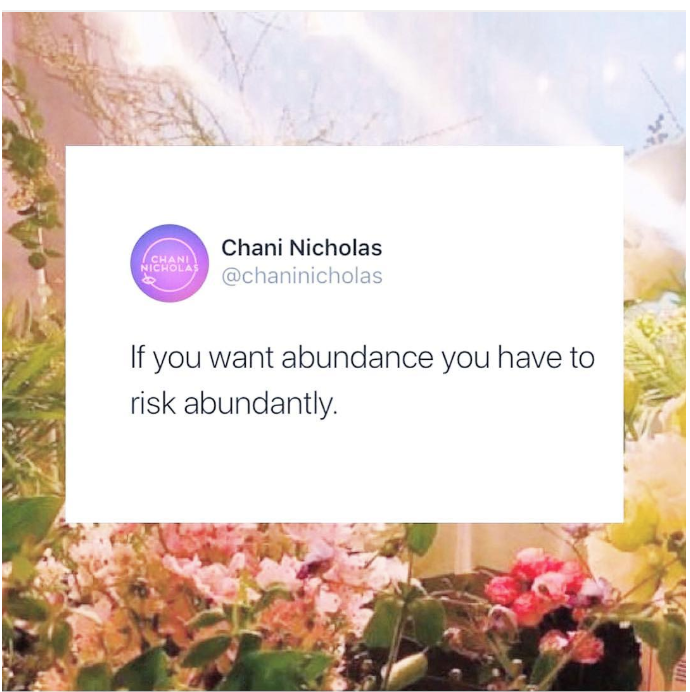 chani nicholas risk abundantly
