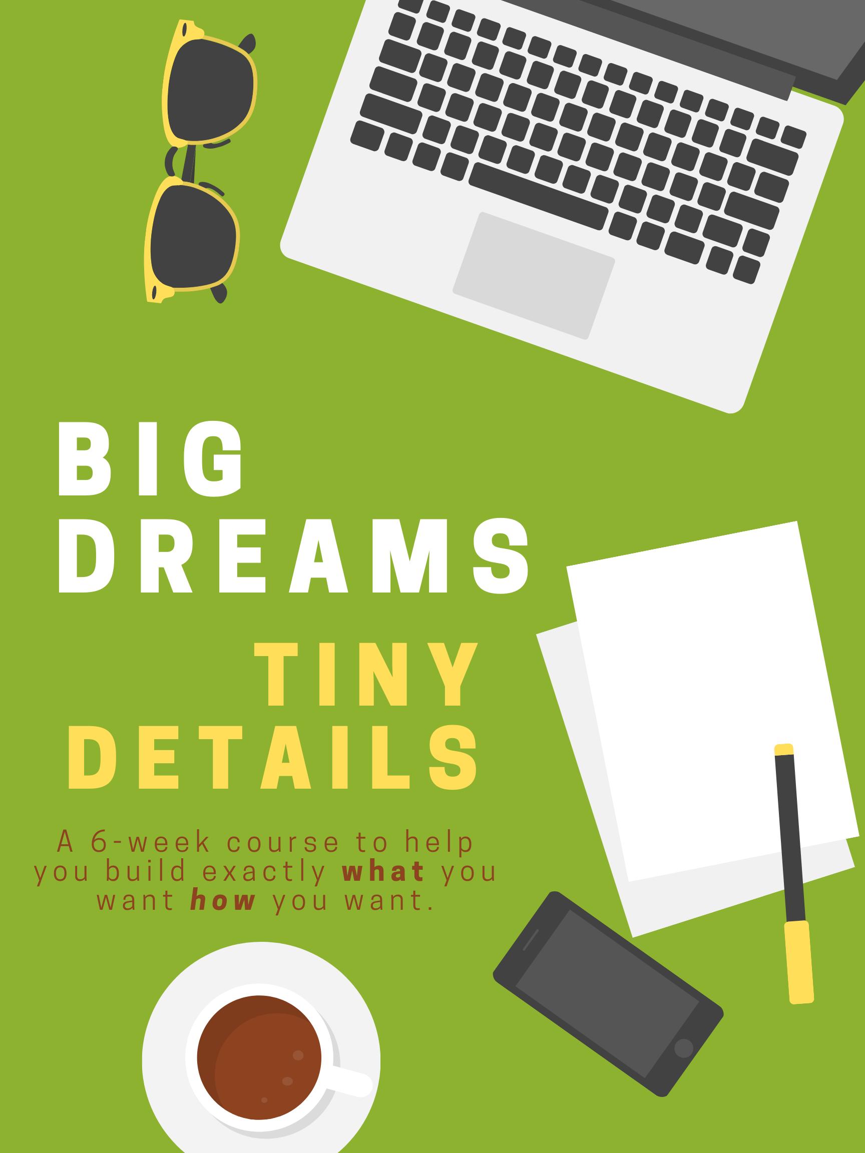 Big Dreams Tiny Details