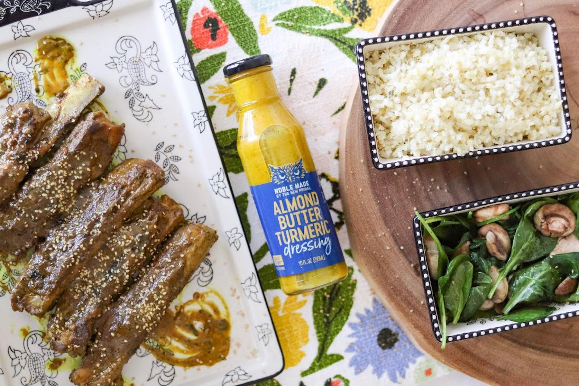 turmeric nut butter sticky rib recipe