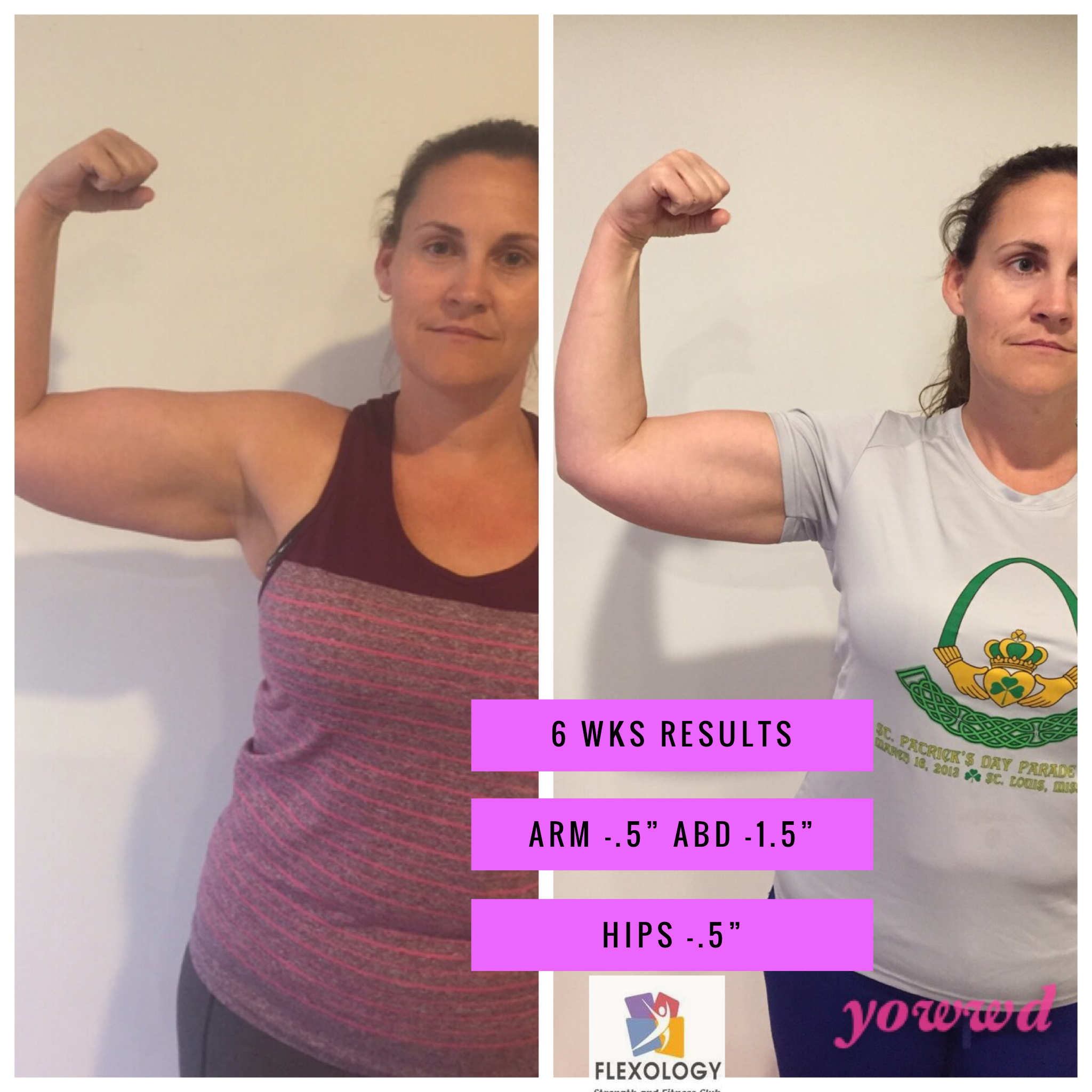 Amber lost 2.5 inches in 6  weeks.