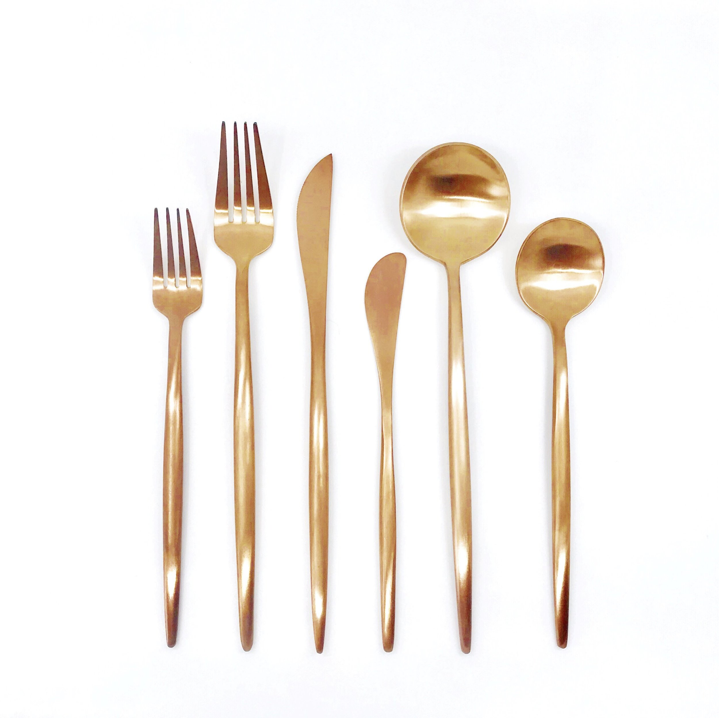 Luxe Rose Gold/Copper Flatware