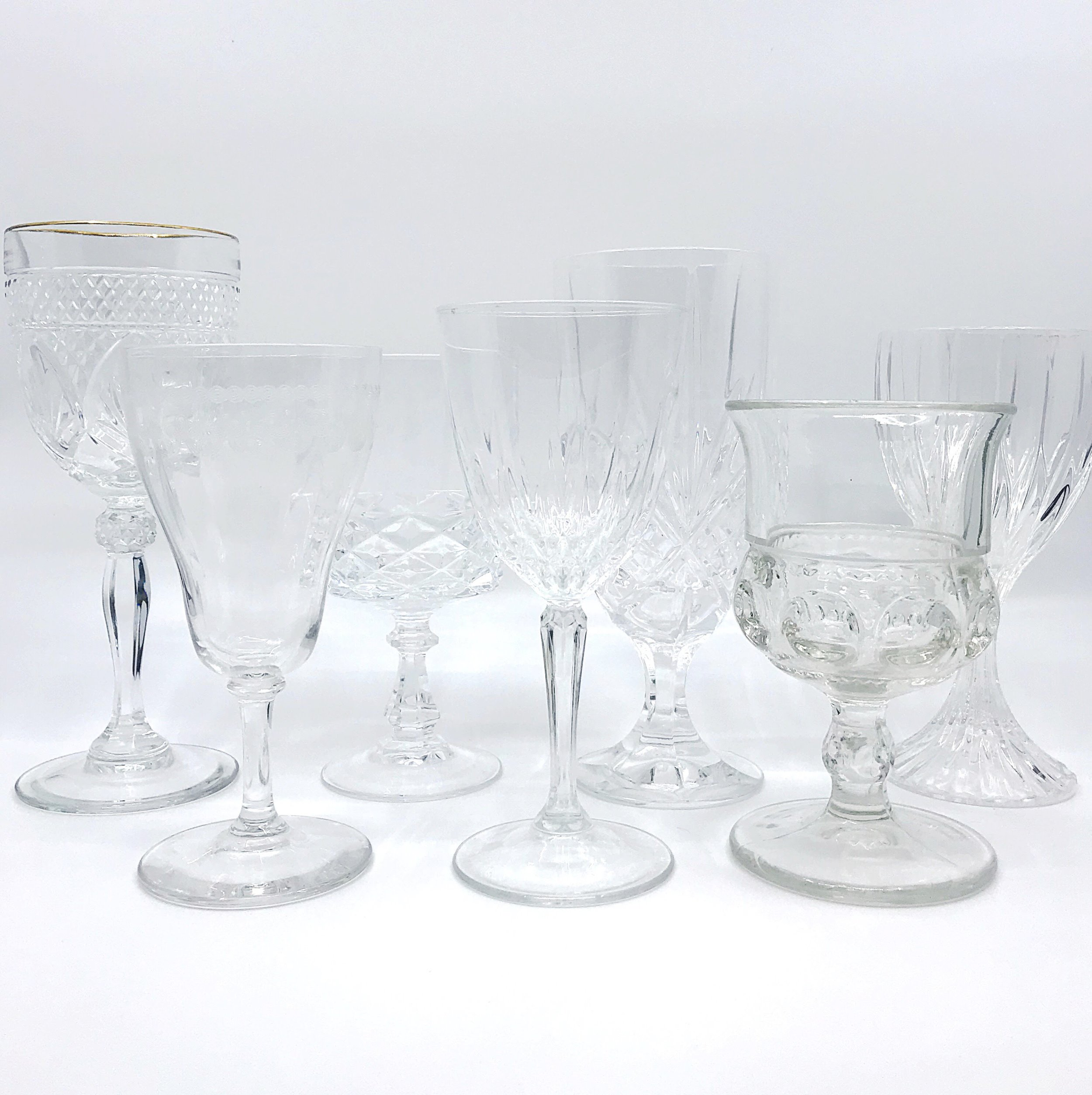 Cut Glass & Crystal Glassware Collection