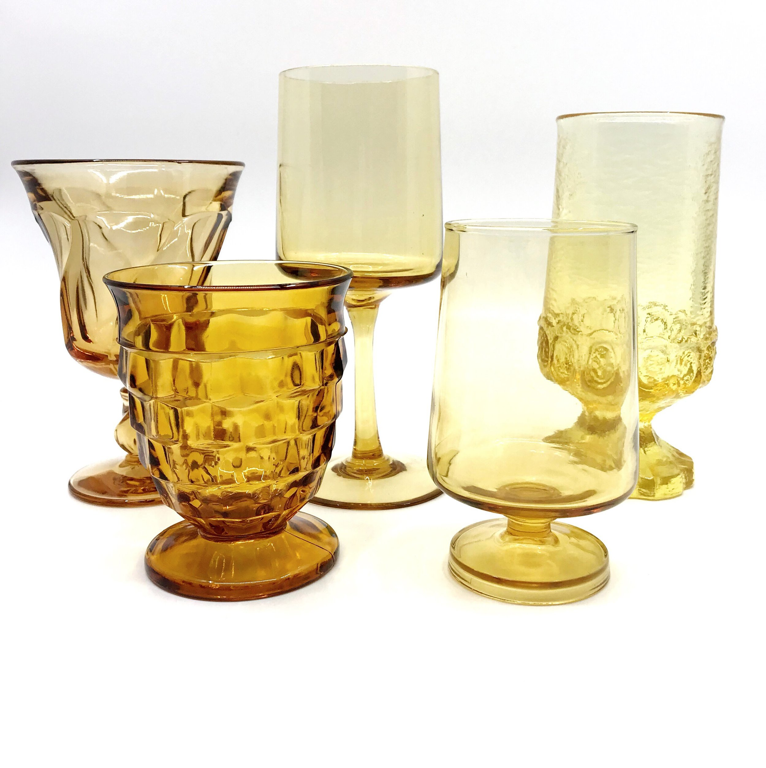 Amber Glassware Collection
