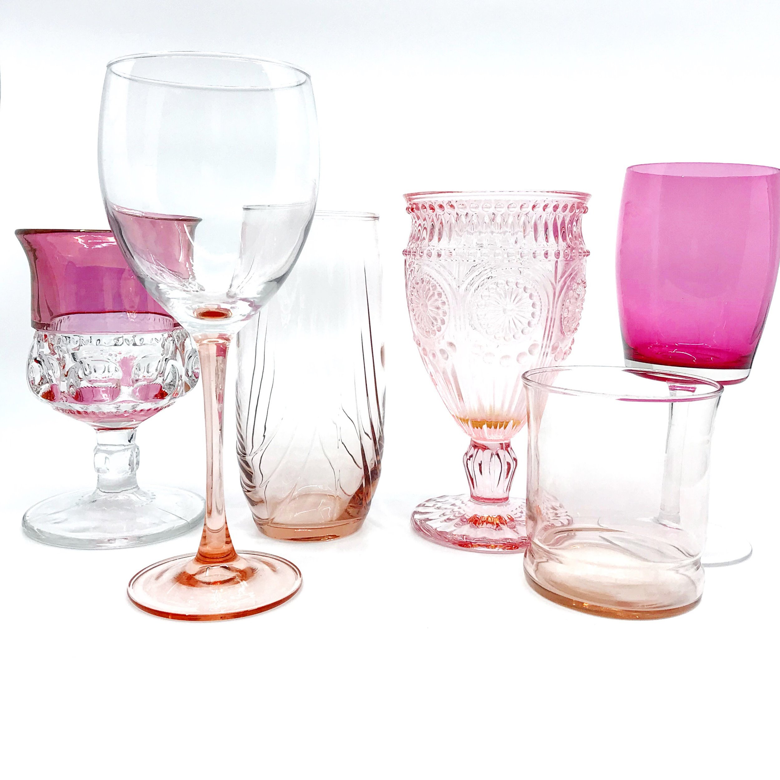 Pink Glassware Collection