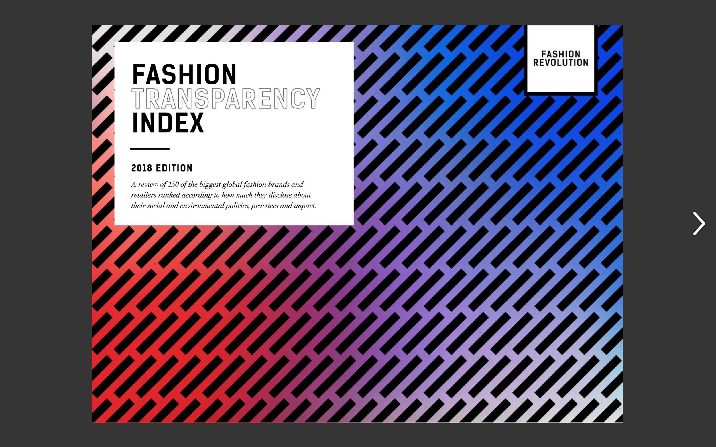 Fashion Transparency Index 2018