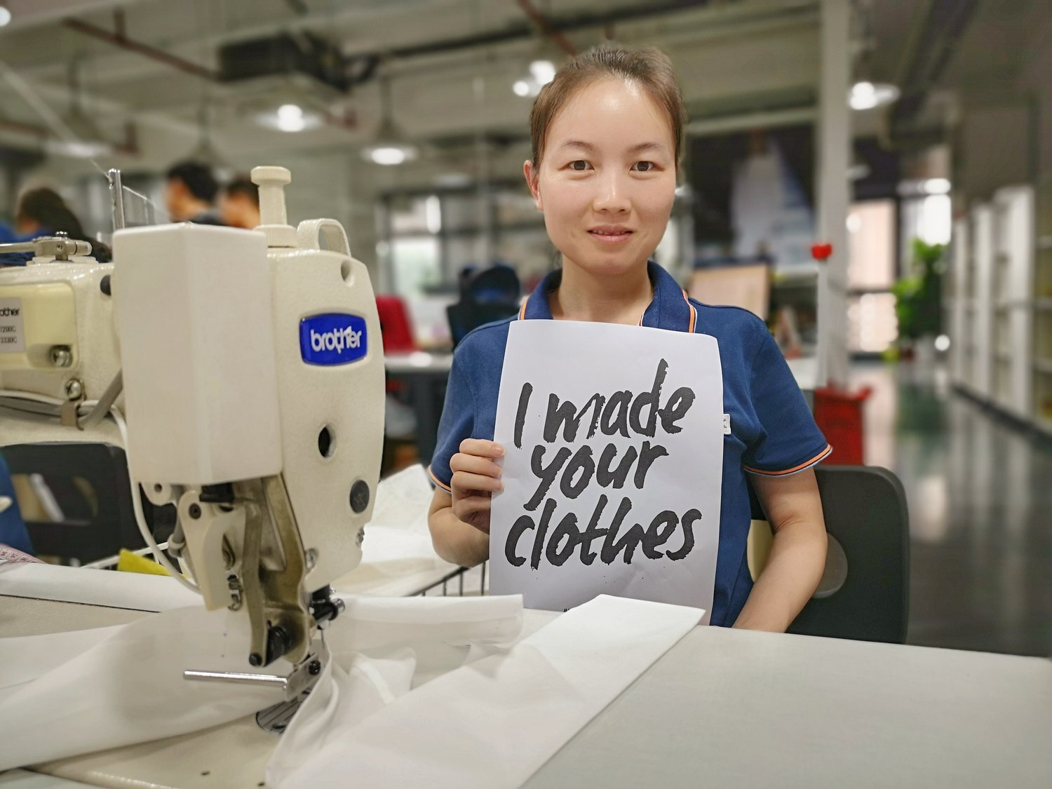 Image   Via AFC Members ELK, taking part in the Fashion Revolution 'Who Made My Clothes' campaign in 2019.