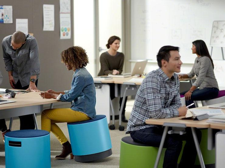 Add movement to your day with the Buoy chair by SteelCase. This chair helps engage your core and promote good posture