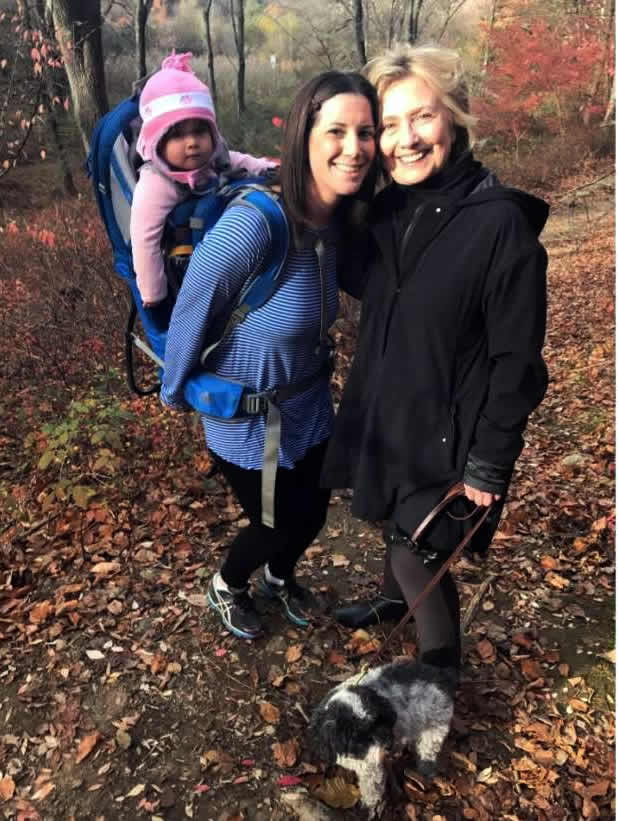 Hilary hiking in the woods the day after the 2016 Presidential election. Credit:  Margot Gerster