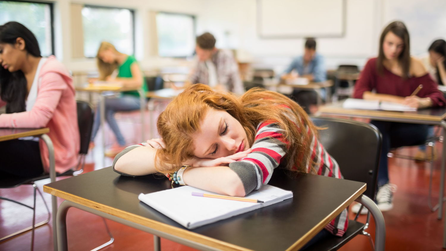 Its hard to learn when you are so tired, more sleep helps you do better in the classroom or at work