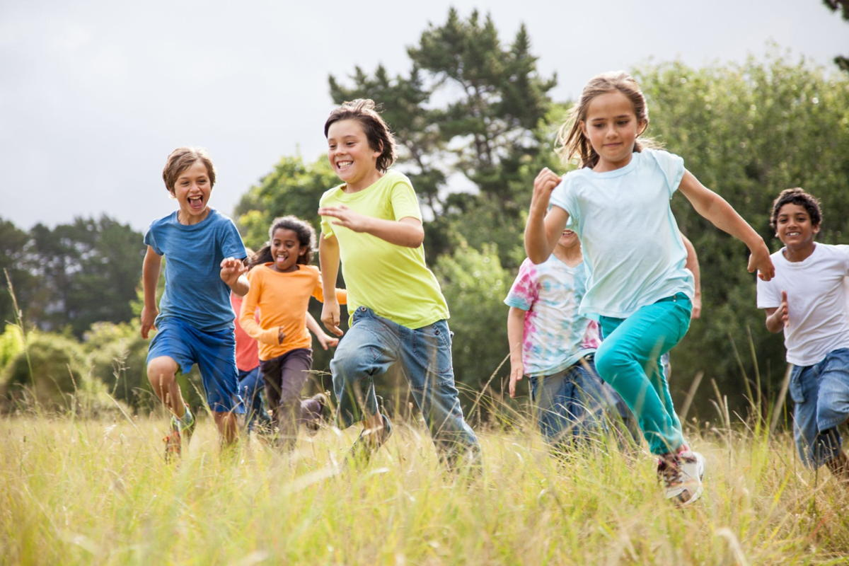 Nature has a way of reducing stress, kids who play outdoors more sleep better.