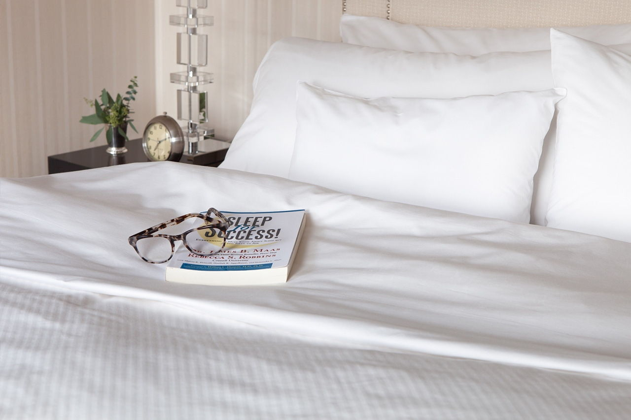 Much of the Benjamin Hotel's Rest & Renew program's content and resources are based on the studies and findings discussed in Rebecca Robinsbook. Sleep for Success.