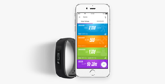 The i Fit  coach provides recommendations and progress updates throughout the day. i Fit  Coach app is available on the Apple App Store® and the Google Play™ store