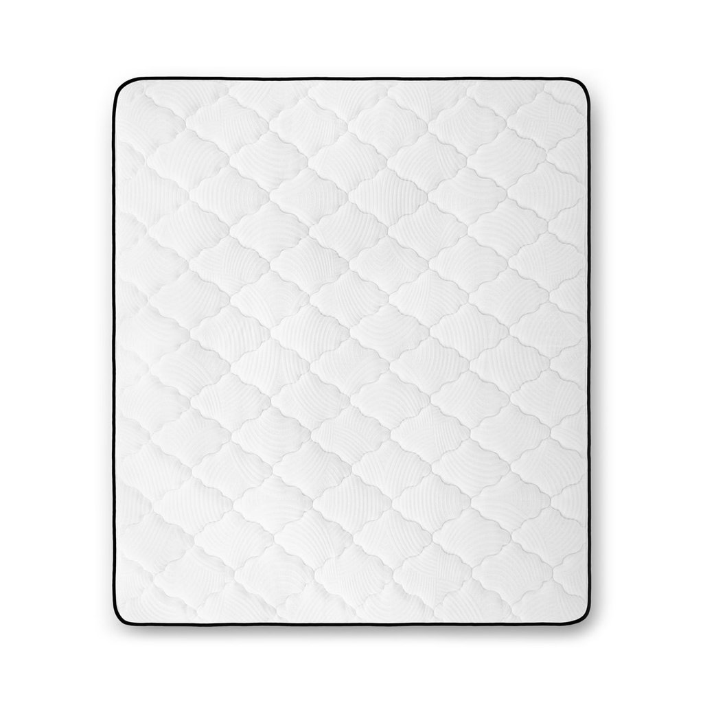 Top View of the quilted Bedaga mattress and cover Bedaga has a quilted foam plush top with a crafted design design.