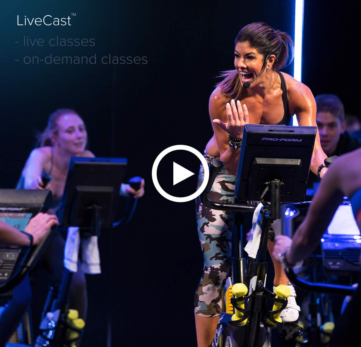 The ProForm TDF Pro comes with studio classes streamed daily available on-demand