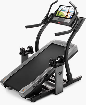 The X22i incline  trainer has a range of 40° incline down to -6° for a realistic uphill or downhill work out experience