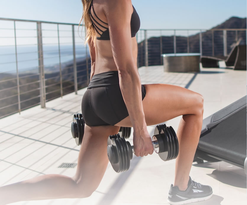 With the adjustable dumbbells you can easily add strength building on and off the X22i