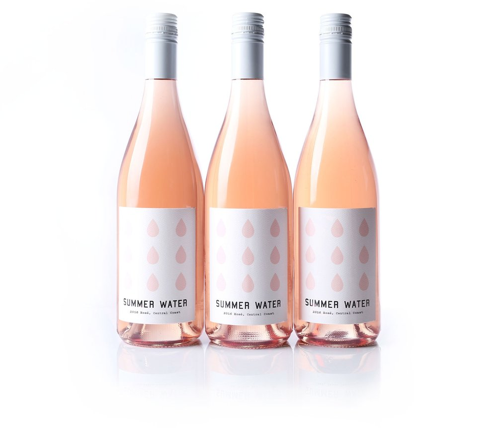 SUMMER WATER  ROSÉ  - PERFECT SUMMER WINE.  DRY AND LIGHT,  BEST SERVED CHILLED .