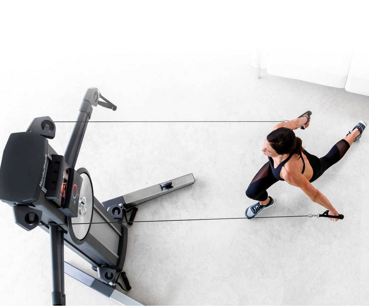 THE FUSION CST IN ACTION   - FUSING STRENGTH WITH INTENSE CARDIO WORK-OUTS. THE FOOTPRINT OF THIS EQUIPMENT IS SMALL BUT YOU WILL WANT SOME ROOM TO MOVE