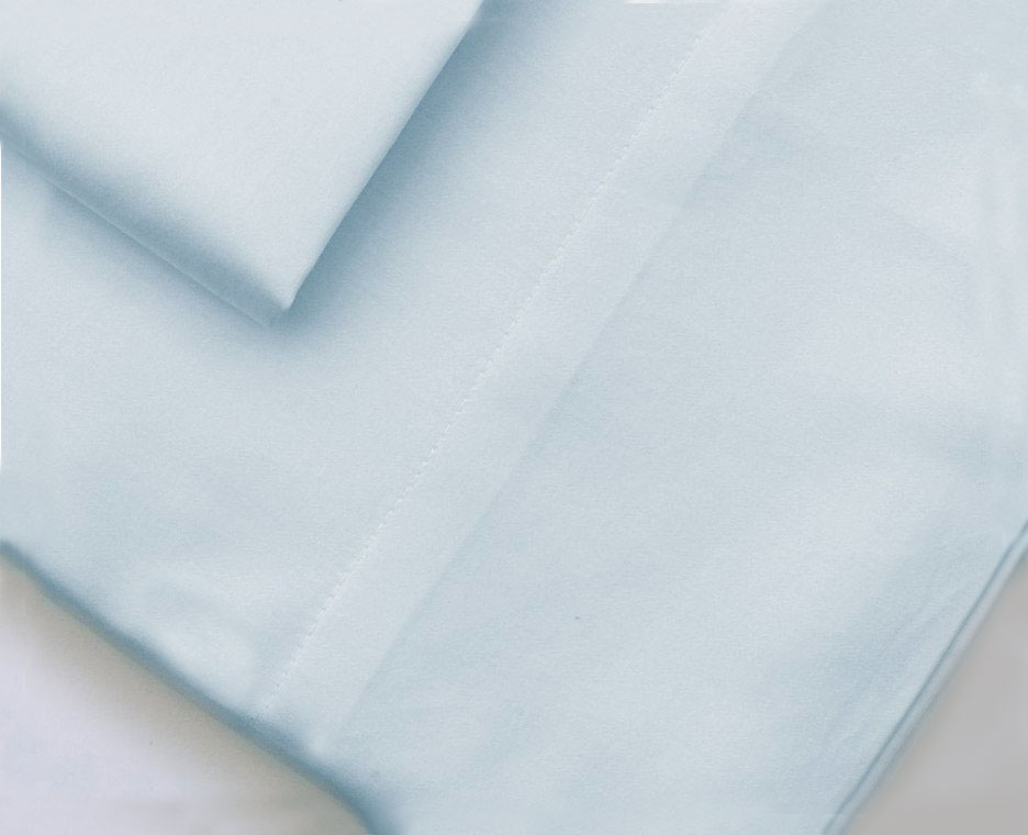 ORGANIC SHEETS.  NON PLEATED  DESIGN FROM SOL ORGANICS. THESE SHEETS COME IN A SELECTION OF 6 COLORS: White, Blue, Ivory, Dove Grey, Sand & Steel-Grey