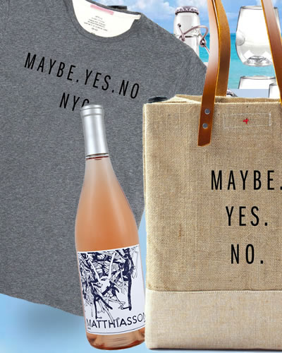 maybe.yes.no t's + a cool tote