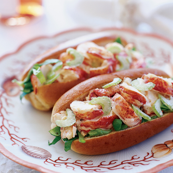 Lobster roll, a perfect food pair with Stéphane Vivier's Vivier Wines Rose of Pinot Noir