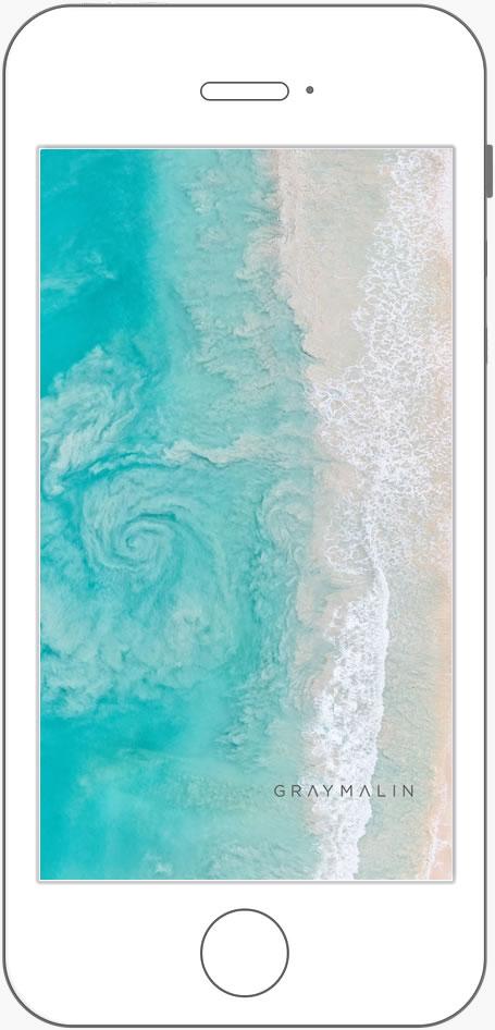 SWIRL WAVES  KAILUA BAY , OAHU HAWAII