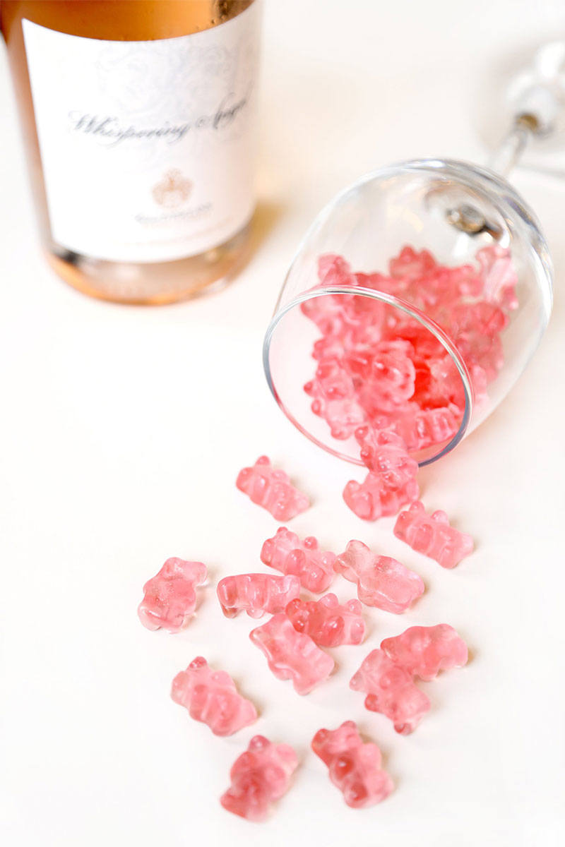 ROSÉ GUMMY BEARS by SUGARFINA LOOK COOL IN PINK AND ARE SO POPULAR