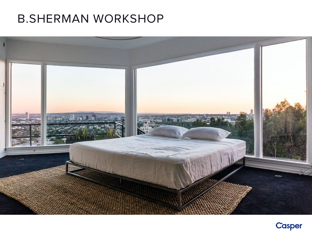 B.SHERMAN PLATFORM BED