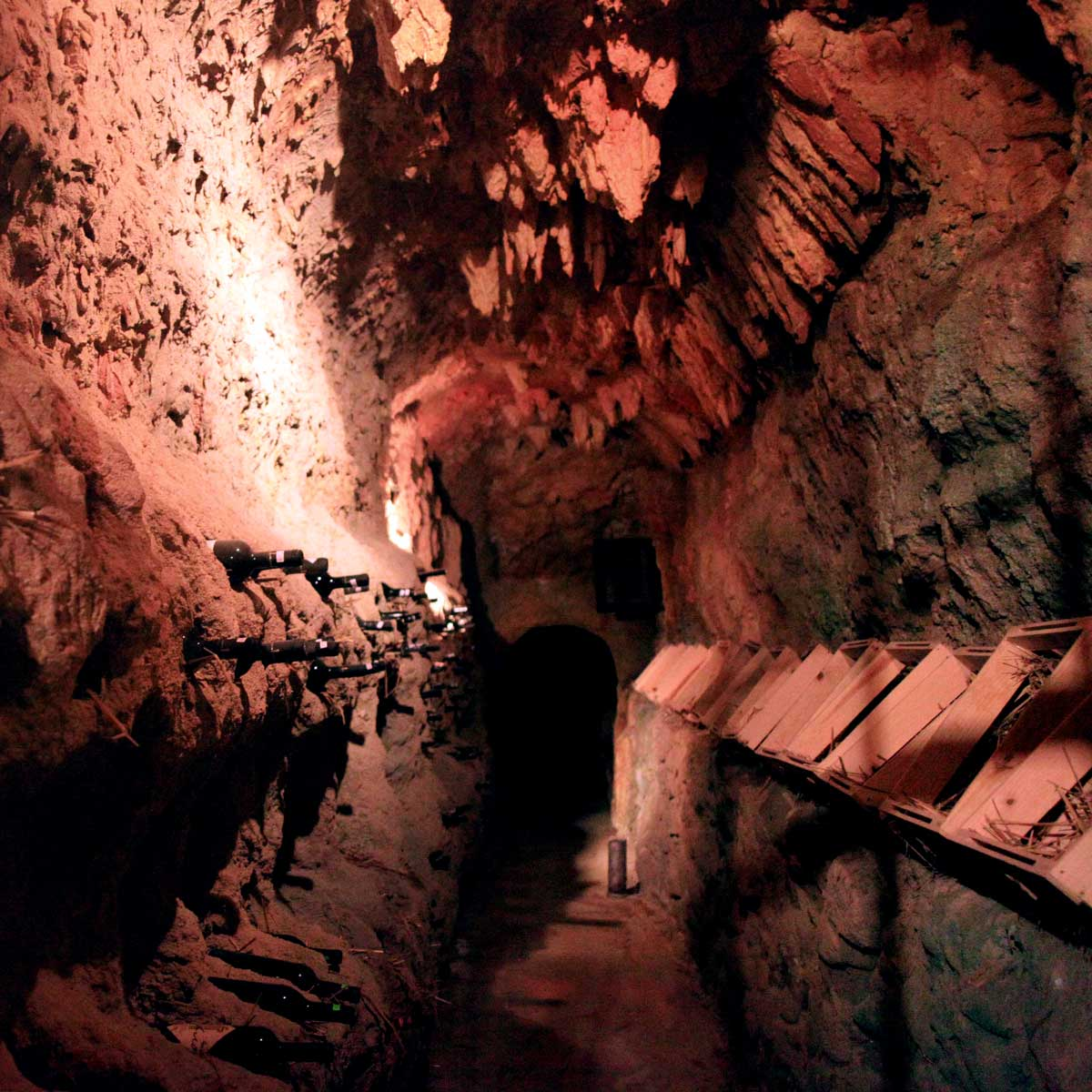 UNDERGROUND CAVERNS - COOL, DRY & DARK - A PERFECT WAY TO PRESERVE WINE   photo by Ada Kase