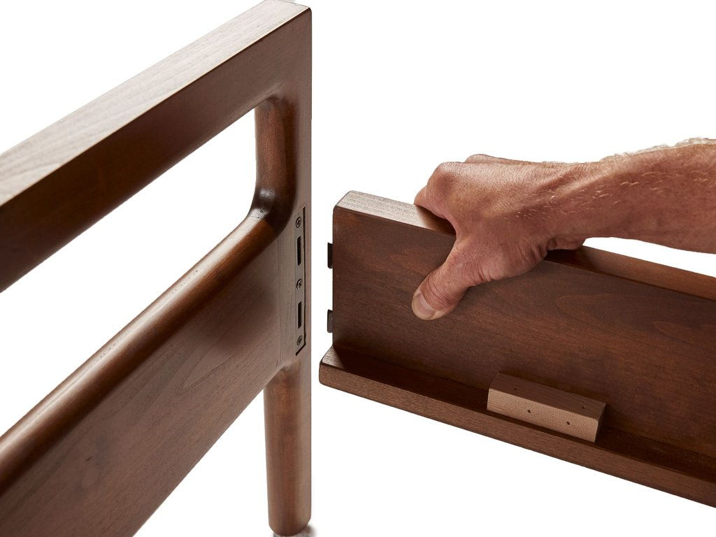 PARACHUTE WOOD BED FRAMES  ARE DESIGNED NOT TO REQUIRE ANY TOOLS FOR ASSEMBLY
