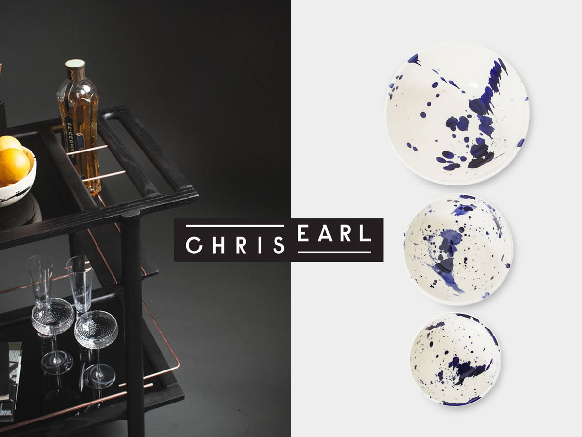 CHRIS EARL IS AN L.A. BASED DESIGN ARTISAN WHO USES HIS HANDS TO WORK WITH NATURAL MATERIALS FROM WOOD, CLAY TO METALS INSPIRED FROM HIS SOUTH PACIFIC UP-BRINGING